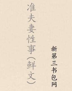 准夫妻性事(鲜文)